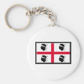 Sardinia Flag Keychain