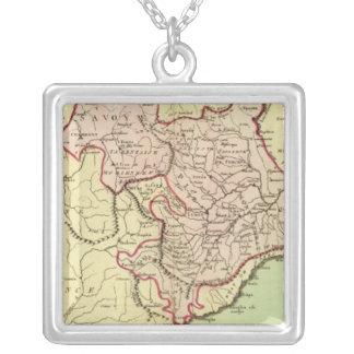Sardinia, France, Italy Square Pendant Necklace