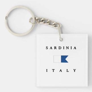 Sardinia Italy Alpha Dive Flag Keychain
