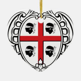 Sardinia (Italy) Coat of Arms Ceramic Ornament