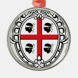 Sardinia (Italy) Coat of Arms Metal Ornament