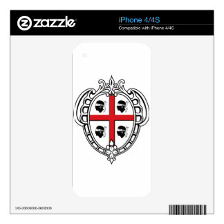 Sardinia (Italy) Coat of Arms Decal For The iPhone 4S
