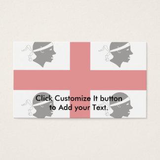 Sardinia, Italy flag Business Card