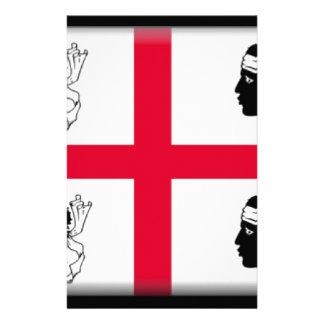 Sardinia (Italy) Flag Stationery Design