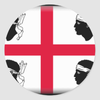 Sardinia (Italy) Flag Classic Round Sticker