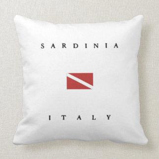 Sardinia Italy Scuba Dive Flag Pillow