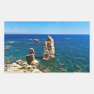 Sardinia - Le Colonne, Carloforte Rectangular Sticker