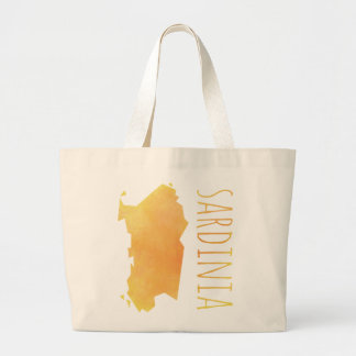 Sardinia Map Large Tote Bag