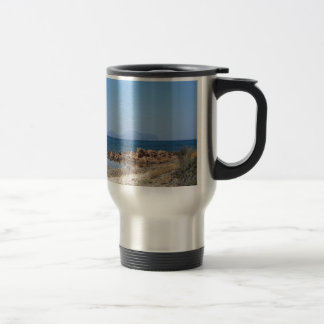 Sardinia seascape in summer travel mug