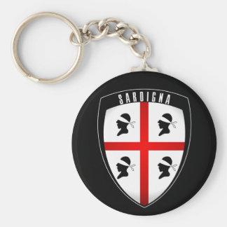 Sardinia, Shield Crest (black) Keychain