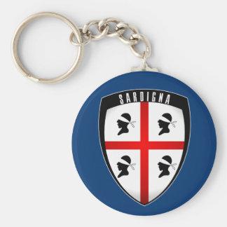 Sardinia, Shield Crest (blue) Keychains