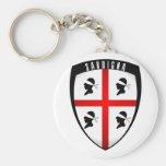 Sardinia, Shield Crest Keychains