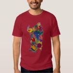 Sardinia, splash paint Map Tee Shirt