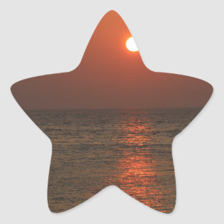 Sardinia Sunset Star Sticker