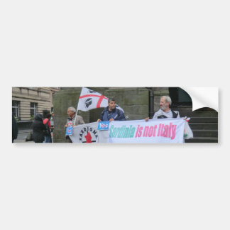 Sardinian Independence Campaigners in Scotland Bumper Stickers