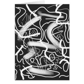 """Sardonic"" Bold Energetic Scribble Pattern Card"