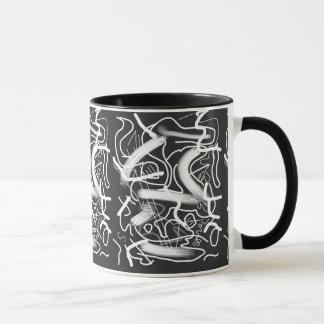 """""""Sardonic"""" Bold Energetic Scribble Pattern Mug"""