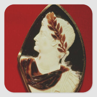 Sardonyx Cameo bearing the profile of Tiberius Square Sticker
