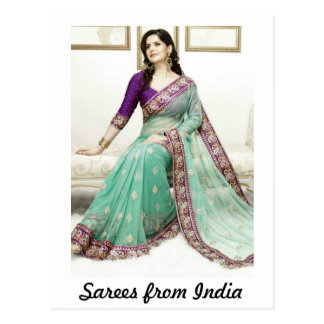 Sarees from India Post Card