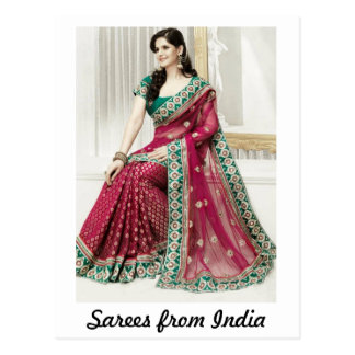 Sarees from India Postcards