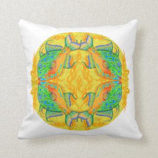 Sargasso Sea Flame Triggerfish Mandala Pillow