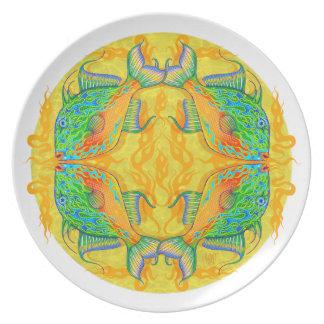 Sargasso Sea Flame Triggerfish Mandala Plate