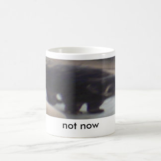 sarge 2, not now classic white coffee mug