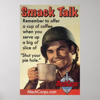 """Sarge on """"Smack Talk"""" poster MechCorps.com"""