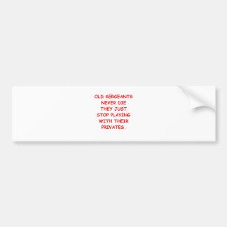 SARGE.png Car Bumper Sticker