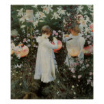 Sargent Carnation Lily Lily Rose Poster