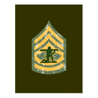 Sargent First Class - Military Patch Postcard