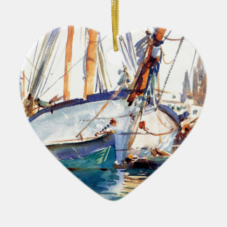 Sargent John Singer Shipping Majorca Ceramic Ornament