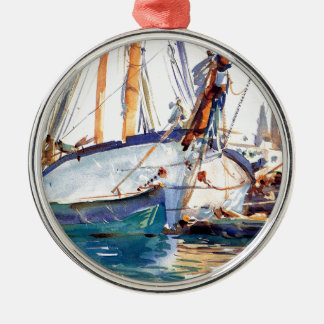 Sargent John Singer Shipping Majorca Metal Ornament