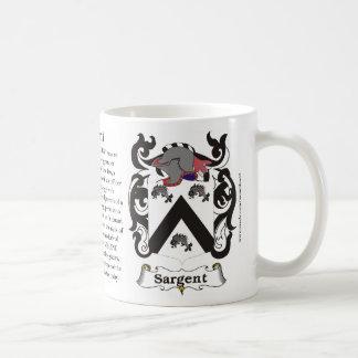 Sargent, la historia, el significado y el escudo taza clásica