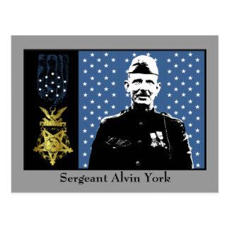 Sargento Alvin York - ganador de medalla de honor Postal