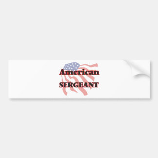 Sargento americano pegatina para auto