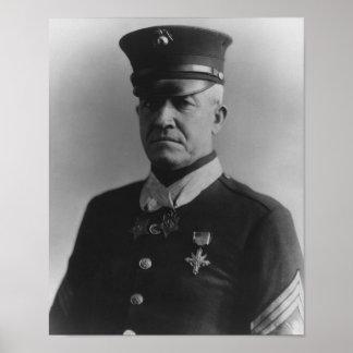 Sargento comandante Dan Daly Póster