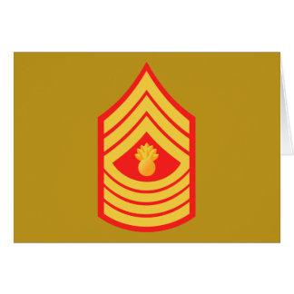 Sargento de artillería principal del USMC MGySgt E Tarjeta De Felicitación