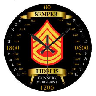 Sargento de artillería reloj redondo grande