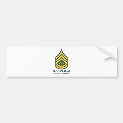 Sargento de la parrilla del ejército pegatina de parachoque