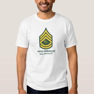 Sargento de la parrilla del ejército playeras