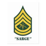 Sargento de la parrilla del ejército postales