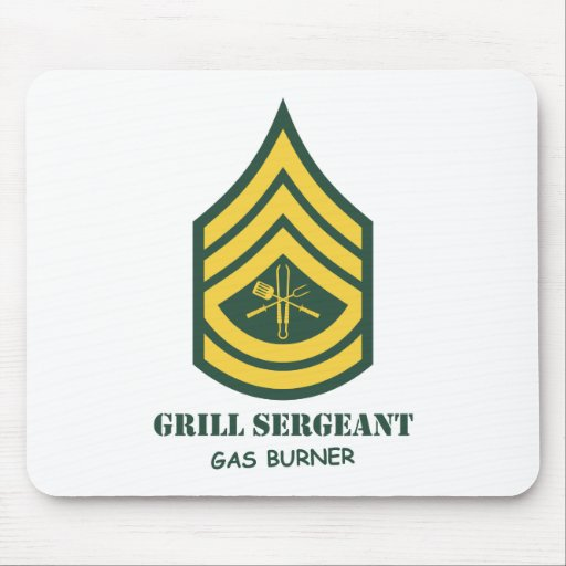 Sargento de la parrilla del ejército tapete de raton