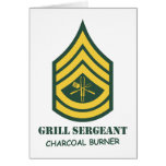 Sargento de la parrilla del ejército tarjeta