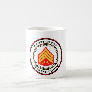 Sargento E5 Sgt del USMC Taza Clásica