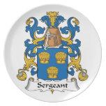 Sargento Family Crest Platos Para Fiestas