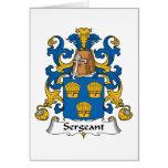 Sargento Family Crest Tarjeta