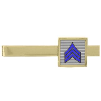 Sargento fino Stripes de Blue Line Alfiler De Corbata Dorado