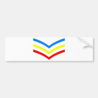 Sargento gay Stripes de Estados Unidos Pegatina Para Auto