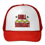 Sargento Hat de la parrilla Gorros